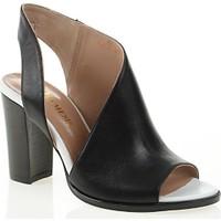 Nemesis Shoes Klasik Topuklu Ayakkabı Siyah Beyaz Deri