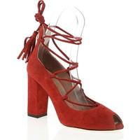 Nemesis Shoes Klasik Topuklu Ayakkabı Kırmızı Süet