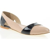 Nemesis Shoes Babet Ayakkabı Pudra Lacivert Rugan