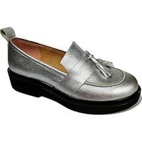 Nemesis Shoes Loafer Ayakkabı Gümüş Deri