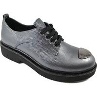 Nemesis Shoes Oxford Ayakkabı Gri Antrasit Deri