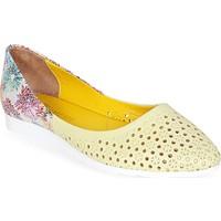 Nemesis Shoes Babet Ayakkabı Sarı Baskılı Deri