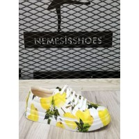 Nemesis Shoes Spor Ayakkabı Limon Baskılı Deri