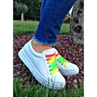 Nemesis Shoes Spor Ayakkabı Beyaz Renkli Bağcıklı