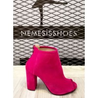 Nemesis Shoes Topuklu Ayakkabı Bordo Süet