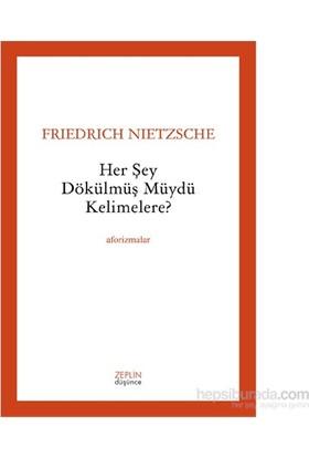 Her Şey Dökülmüş Müydü Kelimelere ?-Friedrich Nietzsche