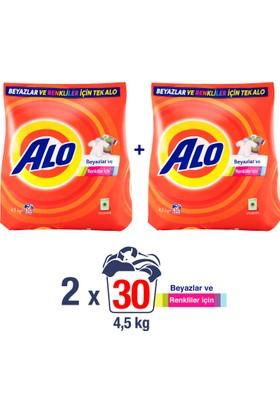 Alo Toz Çamaşır Deterjanı Beyazlar ve Renkliler İçin 4.5 kg + 4.5 kg
