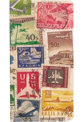 Postage Stamp / Airlane 11*21 30 Sayfa Terzi Dikişli 80 Gr. Ivory Çizgisiz Defter