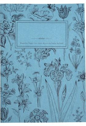 My Garden Book / Hyacinth 21*29,7 30 Sayfa Karton Kapak 90 Gr. Renkli Kağıt Çizgisiz Defter