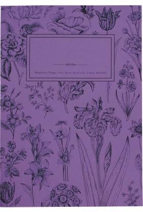 My Garden Book / iris 21*29,7 30 Sayfa Karton Kapak 90 Gr. Renkli Kağıt Çizgisiz Defter