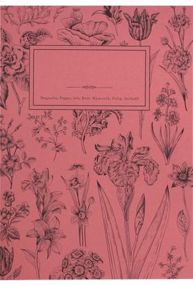 My Garden Book / Poppy 21*29,7 30 Sayfa Karton Kapak 90 Gr. Renkli Kağıt Çizgisiz Defter