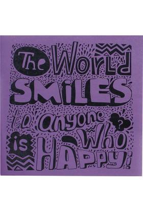 Squared Colored Book / Smile 21*21 30 Sayfa Karton Kapak 90 Gr. Renkli Kağıt Çizgisiz Defter