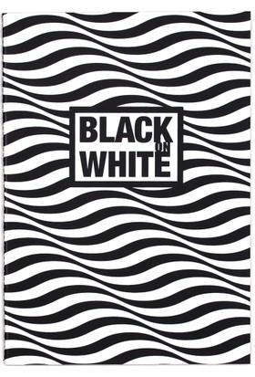 Black On Write Defter / Wave 16,5*23,5 20 Sayfa Terzi Dikişli 100 Gr. Siyah Çizgisiz