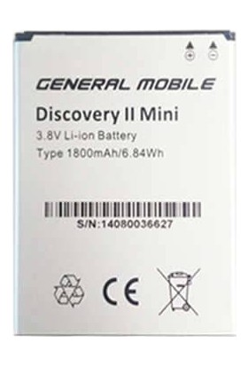 General Mobile Discovery 2 Mini Batarya 1800 Mah