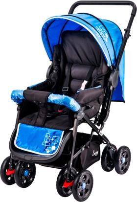 Johnson Snopy Çift Yönlü Bebek Arabası / Siyah-Mavi