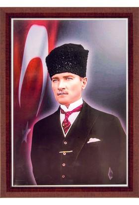 İnter Atatürk Portresi 35 x 50 Lamine Çerçeve
