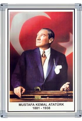 İnter 35x50 Atatürk Portresi Alüminyum Çerçeveli INT-824-2