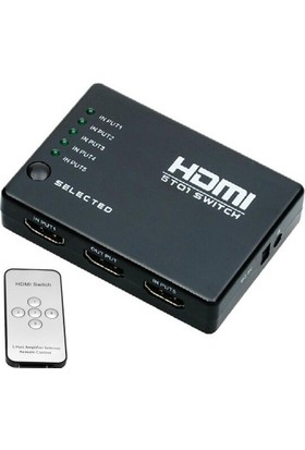 Onten SY-501 5 Port Kumandalı Full HD 1080p Kablosuz HDMI Switch