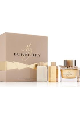 Burberry My Burberry Edp 90 Ml Kadın Parfüm + 75 Ml Vücut Losyonu +75 Ml Duş Jeli Set