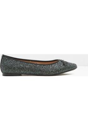 Koton Kadın Simli Detaylı Ayakkabı Yeşil