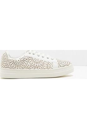 Koton Kadın Bağcıklı Ayakkabı Beyaz