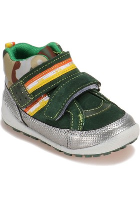I Cool 346 Yeşil Erkek Çocuk Deri Ayakkabı