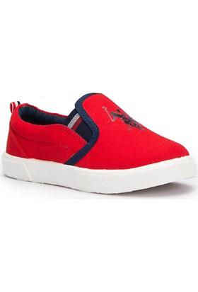 U.S. Polo Assn. Junda Kırmızı Unisex Çocuk 337 Ayakkabı