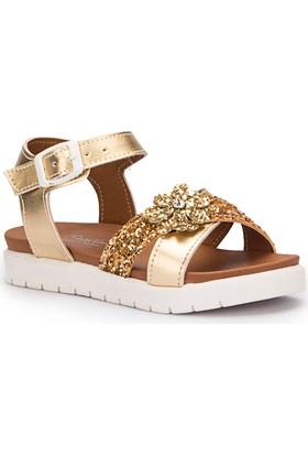 Pink Step Larin Altin Kız Çocuk Basic Sandalet