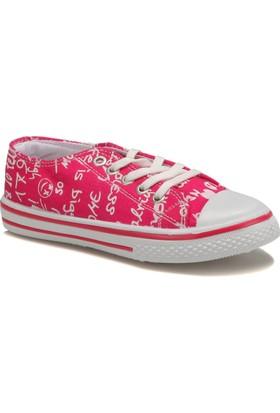 Kinetix Denni Print Fuşya Beyaz Kız Çocuk Sneaker Ayakkabı