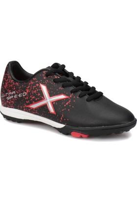 Kinetix Street Turf X Siyah Kırmızı Erkek Çocuk Halı Saha Ayakkabısı