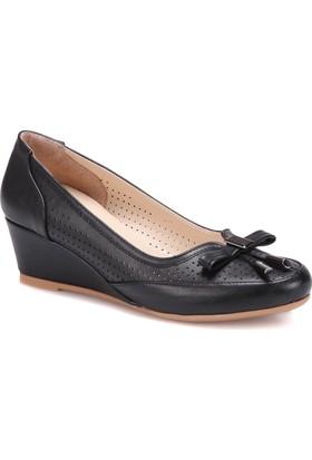 Polaris 71.156550.Z Siyah Kadın Dolgu Topuk Ayakkabı