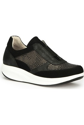 Polaris 71.109751.Z Siyah Kadın Dolgu Topuk Ayakkabı