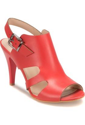 Miss F DS17064 545 Mercan Kadın Topuklu Ayakkabı