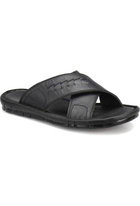 Polaris 71.157703.M Siyah Erkek Deri Klasik Ayakkabı