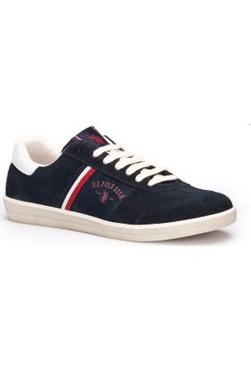 U.S. Polo Assn. Phuket Lacivert Erkek Deri Sneaker Ayakkabı