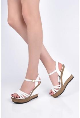 Sapin 25939 Kadın Sandalet Beyaz