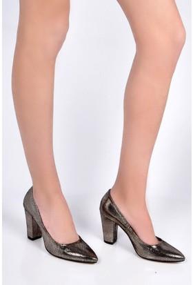Sapin 25614 Kadın Topuklu Ayakkabı Altın