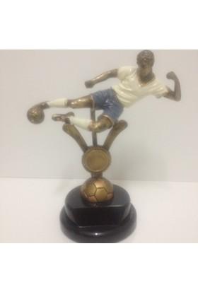 Beyazyıldızlar Vole Vuran Futbolcu Figürü