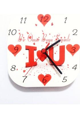 Beyazyıldızlar I love U Bir Ömür Boyu Seninle Duvar Saati