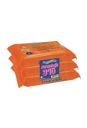 Fresh'N Soft Classıc Islak Bebek Havlusu - 3'lü Paket
