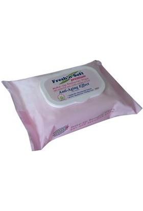 Fresh'N Soft Premium Makyaj Temizleme Mendili – Kuru Hassas Ciltler İçin – 25'li Seyahat Paketi