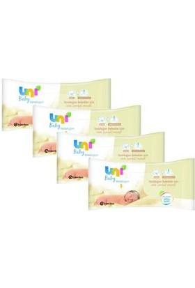 Uni Baby Yeni Doğan Bebekler İçin Islak Mendil 3 + 1
