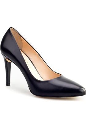 Cabani Stiletto Günlük Kadın Ayakkabı Siyah Metiz Deri