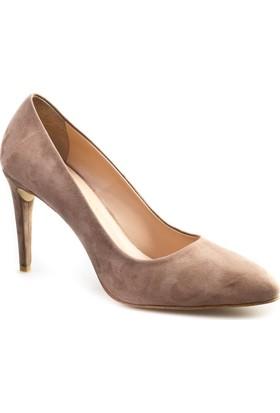 Cabani Stiletto Günlük Kadın Ayakkabı Vizon Süet