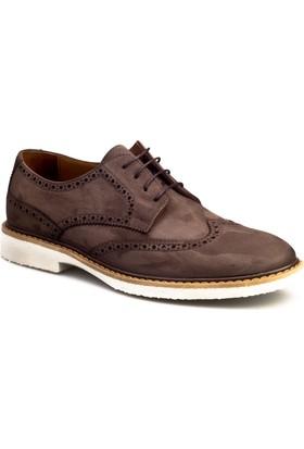 Cabani Oxford Günlük Erkek Ayakkabı Kahverengi Nubuk
