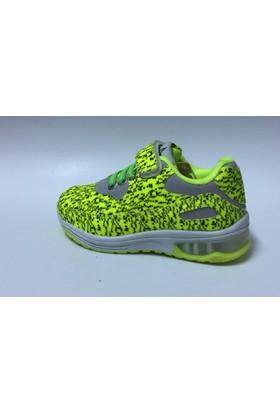 Rabum Fosfor Sarı Cırtlı Çocuk Spor Ayakkabı