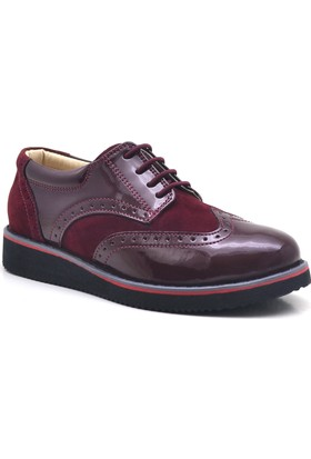 Raker Bordo Rugan Erkek Çocuk Ayakkabısı