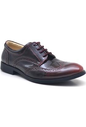Raker Siyah Bordo Rugan Klasik Erkek Çocuk Ayakkabısı