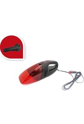 Nettedarikcisi Oto Süpürge Araç Süpürgesi Çakmaklık Girişli 12 Volt Siyah-Kırmızı