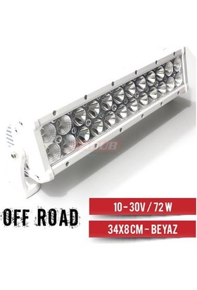 Nettedarikcisi Projektör 10-32V- 72W Off-Road 34 x 8 cm Beyaz